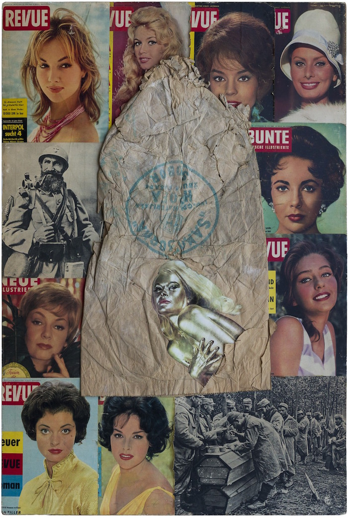 Tomislav Gotovac,   Untitled (Revue),   1965,   collage,   cardboard,   1253 x 853 mm,   Marinko Sudac Collection