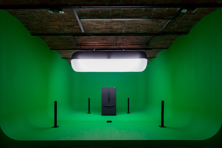 Installation view of GreenScreenRefrigerator,   2010-2016 Mark Leckey: Containers and Their Drivers at MoMA PS1,   October 23,   2016 – March 5,   2017 Photograph by Pablo Enriquez Courtesy the artist and MoMA PS1