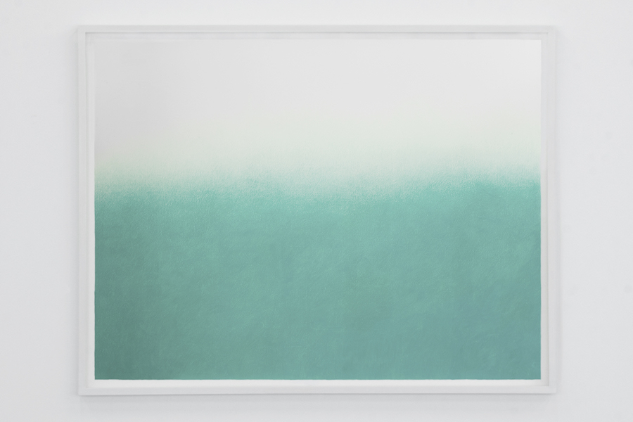 Davide Allieri,   The Green Ray,   2016,   disegno,   pastello su carta,   100x130 cm