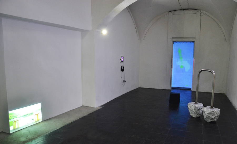 PORTAL,   exhibition view at Current,   Mati Jhurry,   Tabita Rezaire,   Diego Gualandris,   Marco Ceroni