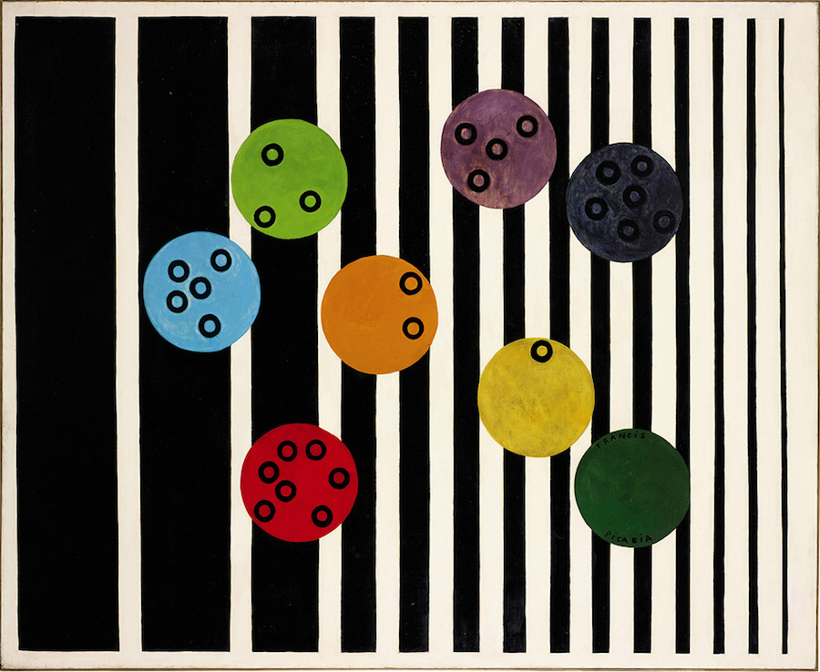 Francis Picabia,   Volucelle (II),   1923 Enamel paint on canvas,   198.8 × 250.2 cm Private collection
