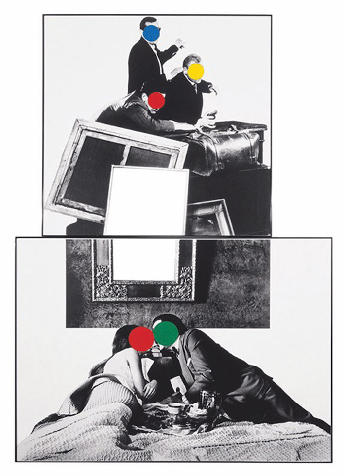 JOHN BALDESSARI Music with Ladder,   1990 Oil tint and vinyl paint,   134.6 x 203 cm Courtesy of Private collection,   Turin