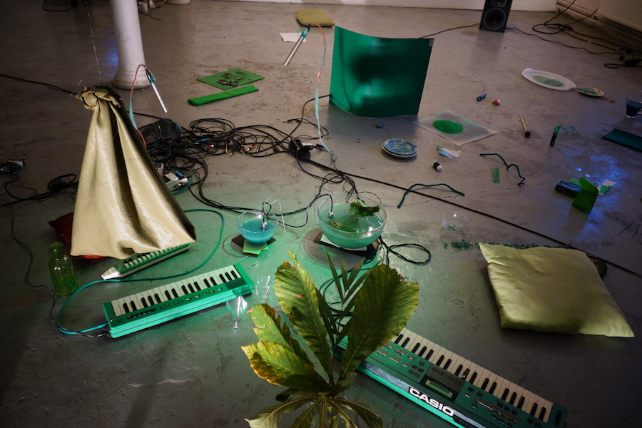 Francesco Cavaliere / Tomoko Sauvage (I/D/Jap/F), Green Music sound performance