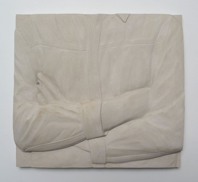 Anna-Bella Papp, Untitled, from In my heart there is a room designed by you, 2016, clay, 35 x 33.5 x 4.5 cm © the artist and Stuart Shave/Modern Art London
