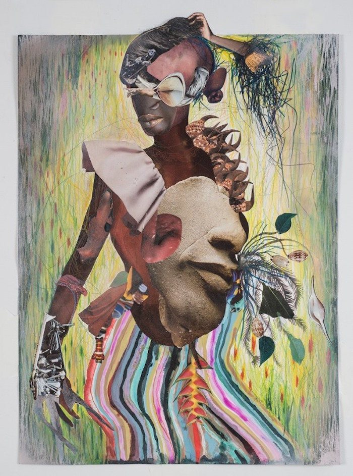 Wangechi Mutu, Automatic Hip, 2015, collage on paper, 74,3x58,4 cm