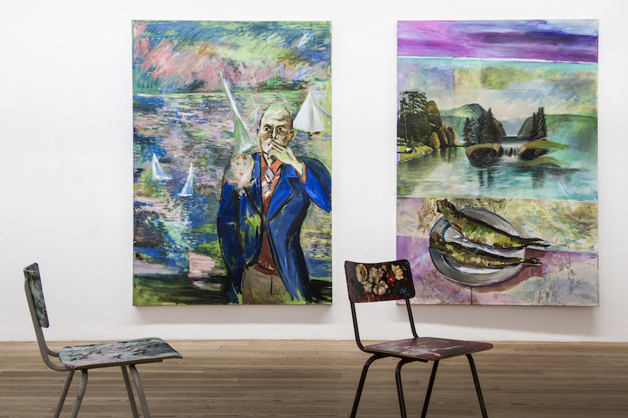Amelie von Wulffen Installation views - Exhibition paintings, Kunst Meran Merano Arte, 2017. Photo: Ivo Corrà © the artists and Kunst Meran Merano Arte 2017