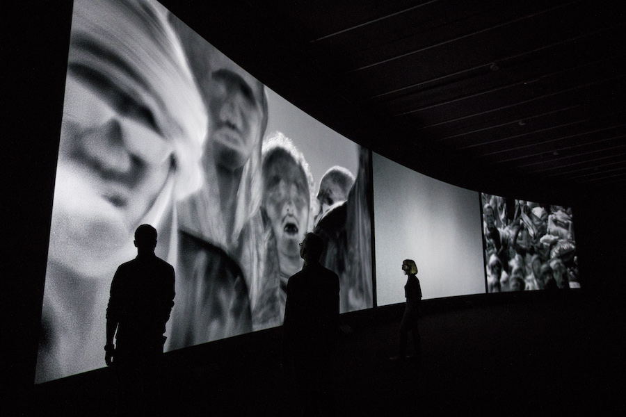 ncoming Installation View Richard Mosse in collaboration with Trevor Tweeten and Ben Frost The Curve, Barbican Centre 15 Feb – 23 Apr 2017 Photo by Tristan Fewings / Getty images