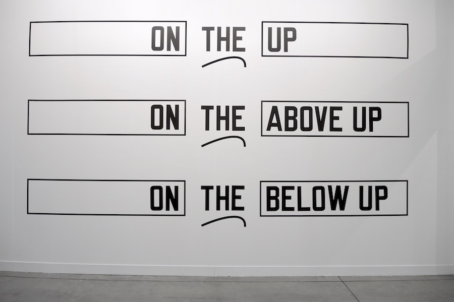 Lawrence Weiner, ALFONSO ARTIACO, Napoli  -  On Demand, Miart 2017 - Foto Costanza Sartoris