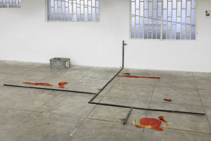 Antoine Renard Floor arrangement #1, 2017 Various dimensions Iron, resin, pigments, pigeon reseller