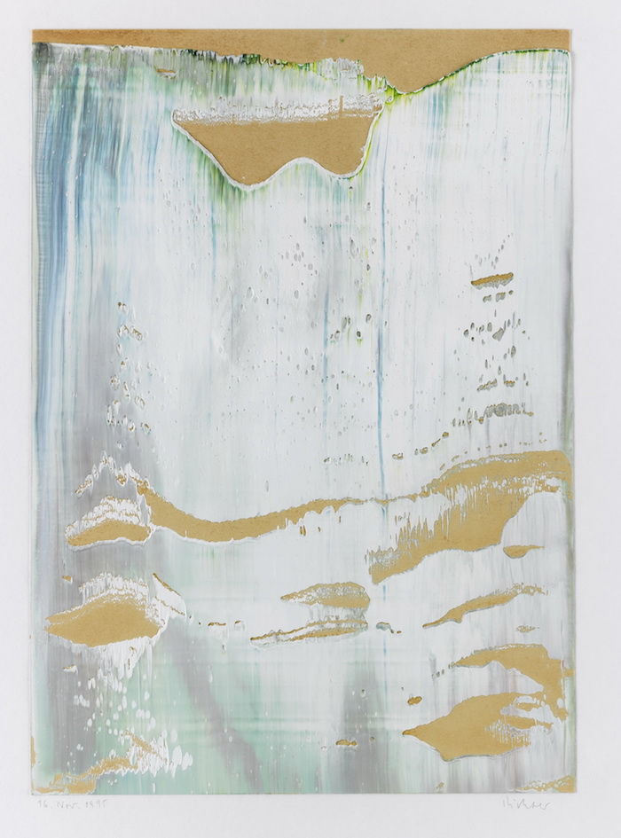 Gerhard Richter, Untitled (16.Nov.1995) 1995 Olio su carta Collection De Beuil & Ract-Madoux