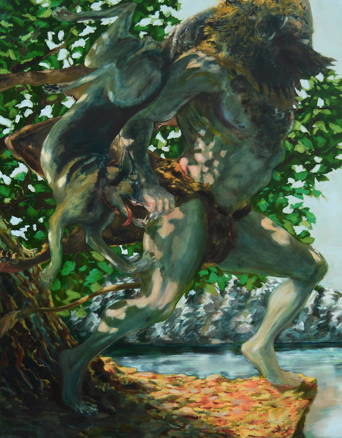 Thomas Braida, Hercules versus c. Rex-2015-olio su tela-237x192 cm, courtesy the artist and Monitor, Rome