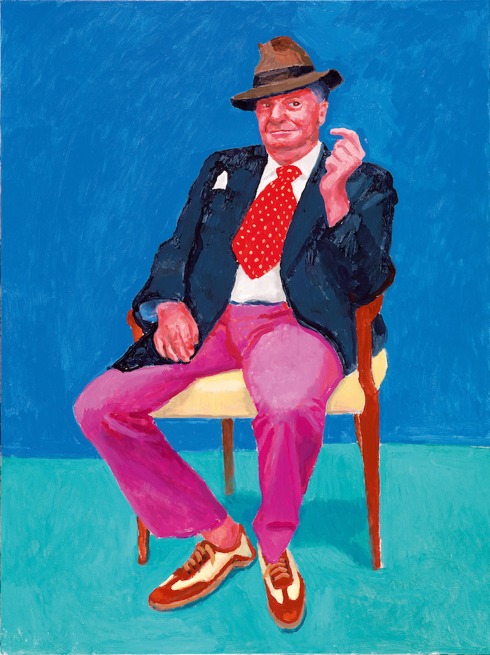 David Hockney Barry Humphries, 26th, 27th, 28th March, 2015 Acrylic on canvas, 121.9 x 91.4 cm © David Hockney; Photo credit: Richard Schmidt