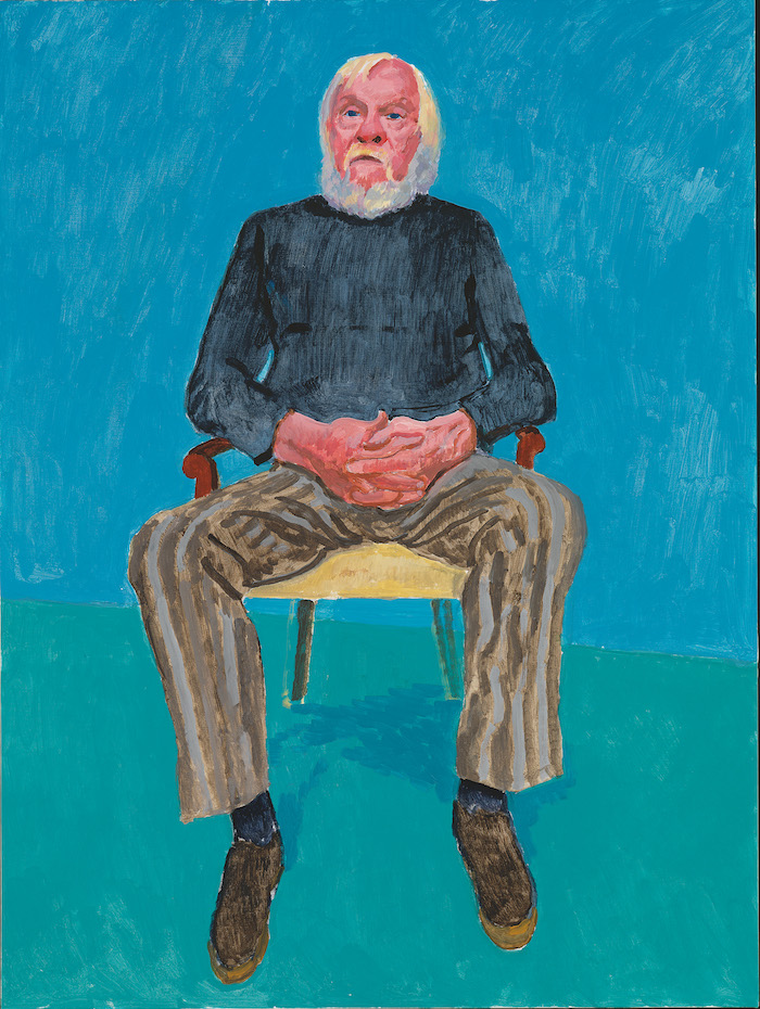 David Hockney, John Baldessari, 13th, 16th December, 2013 Acrylic on canvas, 121.9 x 91.4 cm © David Hockney; Photo credit: Richard Schmidt