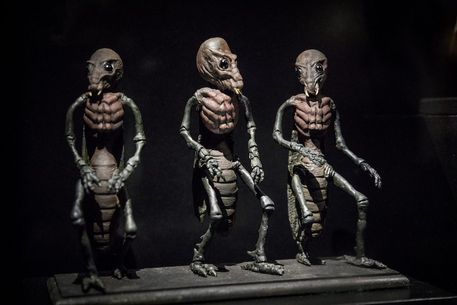 Models, Ray Harryhausen Foundation, Into the Unknown: A Journey through Science Fiction, Barbican Centre 3 June – 1 September. Credit Tristan Fewings / Getty Images