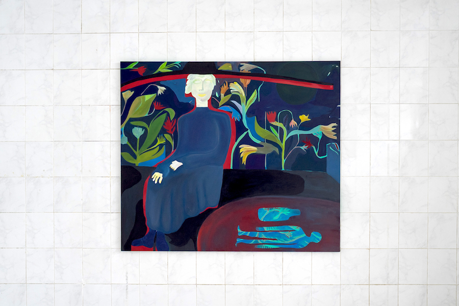 Alice Visentin, PRIMA PERSONA SINGOLARE_Thelonious Sphere Monk_oil on canvas_Courtesy Tile Project Space_Ph. Marco Schiavone