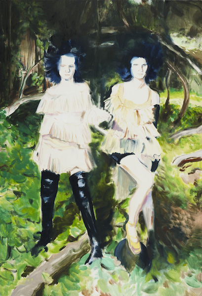 Lindsey Bull, Girls! Girls! 162 x 110cm, oil on canvas, 2017
