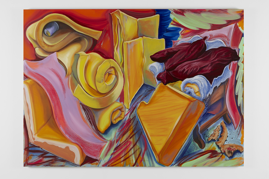 Nicholas Hatfull, Classic Upholstery (reality makes swift) 2017, Conté, pastel, acrylic and oil on canvas 210 x150 cm