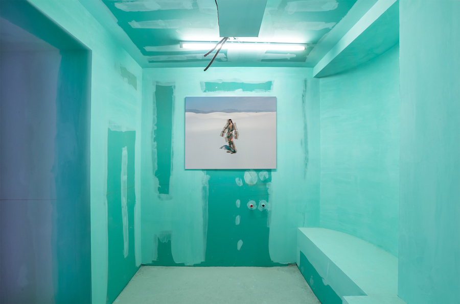 Exhibition view. Synchrodogs. ENDLESS BACK UP. Outer Space, FuturDome. Milan. Italy. Courtesy the artist and ULTRASTUDIO.
