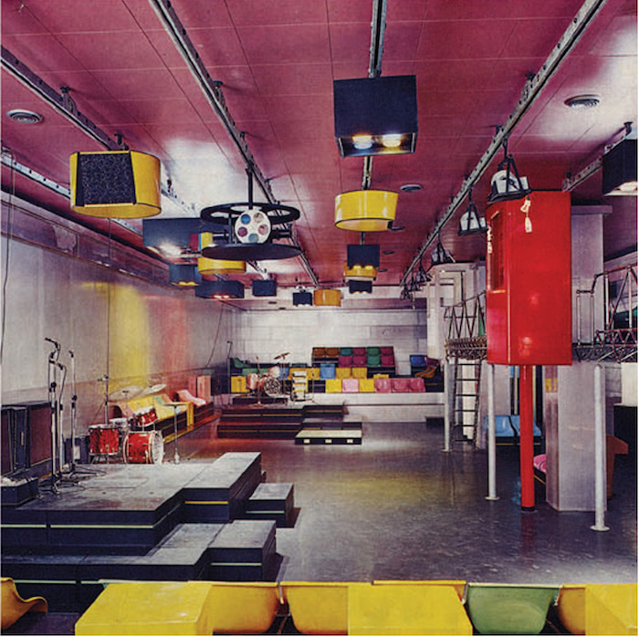 Piper Club Torino. View of the interior. Courtesy Archivio Piero Derossi