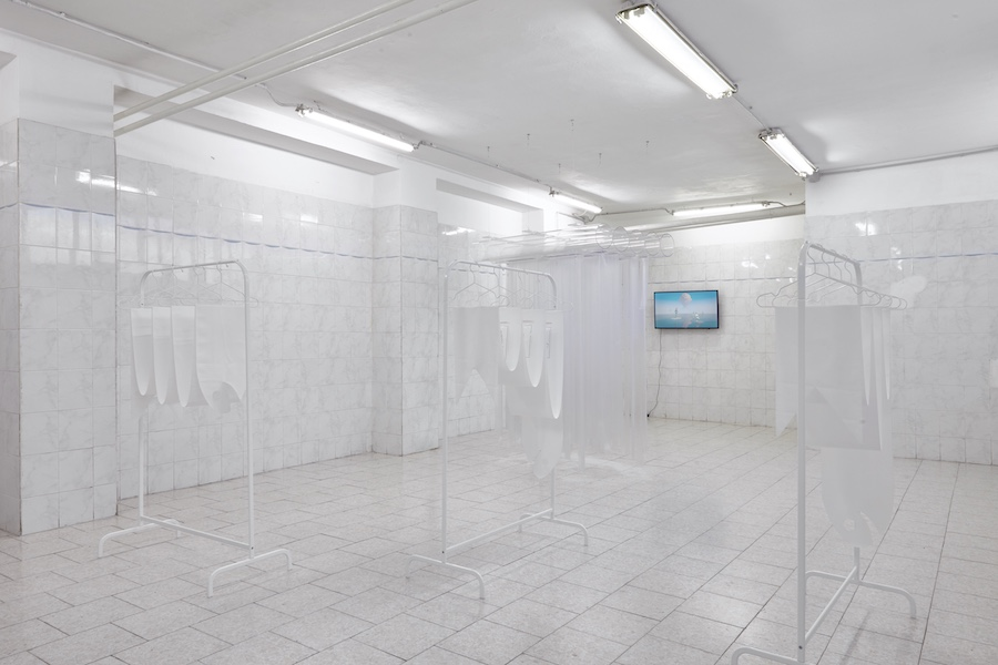 Tile Project Space, Giulio Scalisi - Alghe romantiche. Installation view Courtesy Tile Project Space Photo: Floriana Giacinti