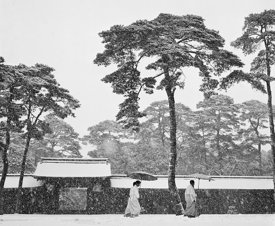 Werner Bischof, Courtyard of the Maiji shrine, Tokyo, Japan, 1951 - Courtesy Magnum Photos