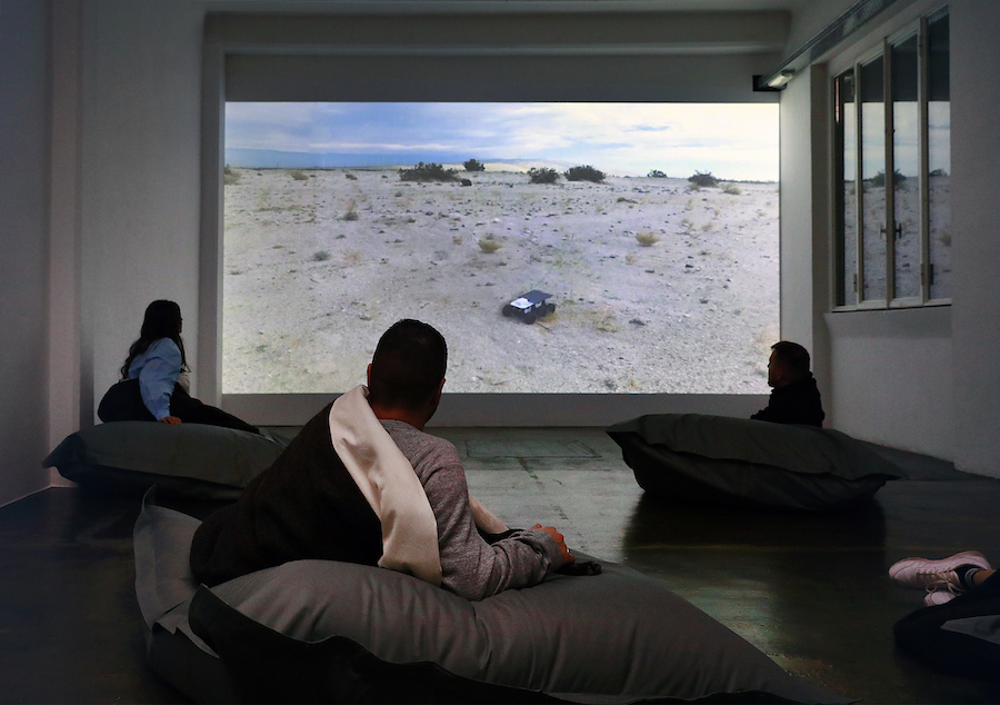 The Soft Machine. Norma Jeane. ShyBot. Single channel color video, 13'28'', 2017. Realized with Andrea Giannone. Installation views at Marsèlleria