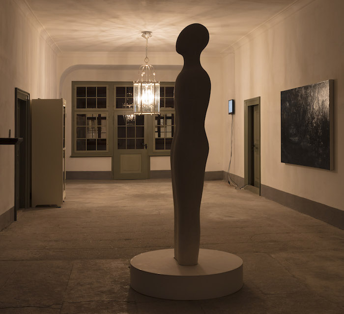 A Mind of Winter, Fausto Melotti The Seven Sages (one element) 1960 (1978)Plaster, 225 x 55 x 31 cm , Courtesy Fondazione Fausto Melotti and Hauser & Wirth, ph. Andrea Rossetti, @ Giorgio Pace Projects