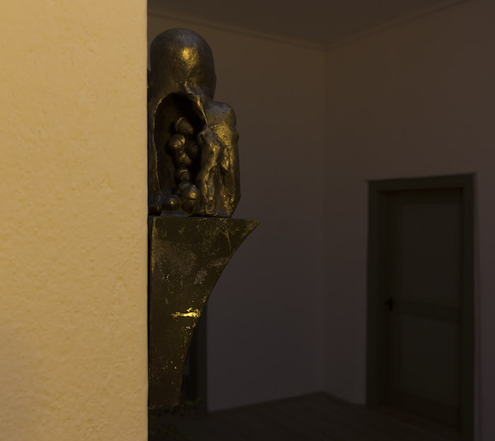 A Mind of Winter, Enzo Cucchi,  Idolo della Quercia, 2015, bronze, iron, 27 x 8 x 8 cm. Unique Courtesy  ZERO…, Milan, ph. Andrea Rossetti, @ Giorgio Pace Projects