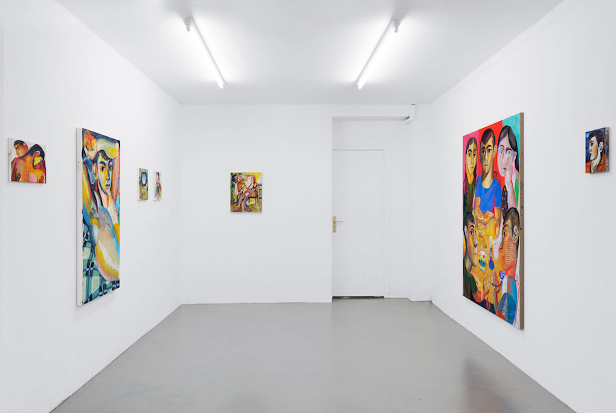 Installation view, Louis Fratino, Harloom
