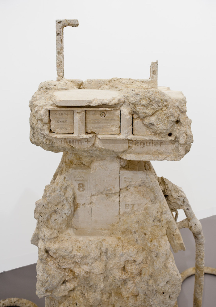 Allora & Calzadilla Petrified Petrol Pump, 2012 Limestone Installed dimensions variable Copyright Allora & Calzadilla Courtesy Gladstone Gallery, New York and Brussels