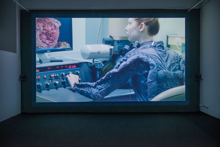 Ursula Mayer,The Soul Paints Itself In Machines, 2018, installation view at Monitor, Rome