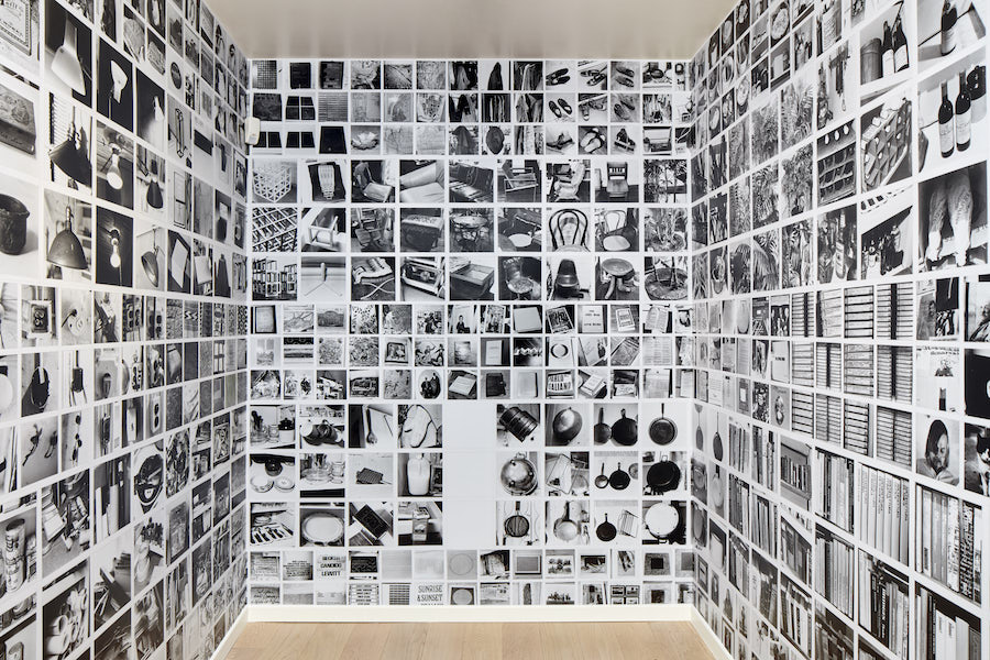 Sol LeWitt, Autobiography, 1980 | Black and white photographs mounted on paper, 62 sheets, 30,5 x 55,9 cm each - Glenstone Museum Collection, Potamac, MD - Courtesy Estate of Sol LeWitt — Installation view Sol LeWitt, Between the Lines, 2017, Fondazione Carriero - Photo: Agostino Osio