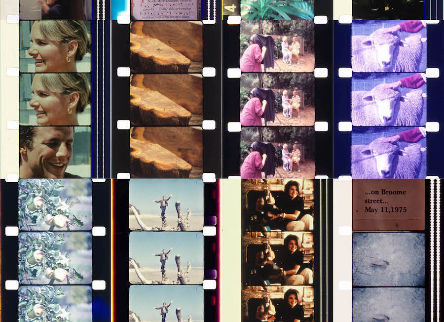 Jonas Mekas - a 1-166 In an Instant It All Came Back to Me, transparent printed glass, 100 x 56 cm, 2015.