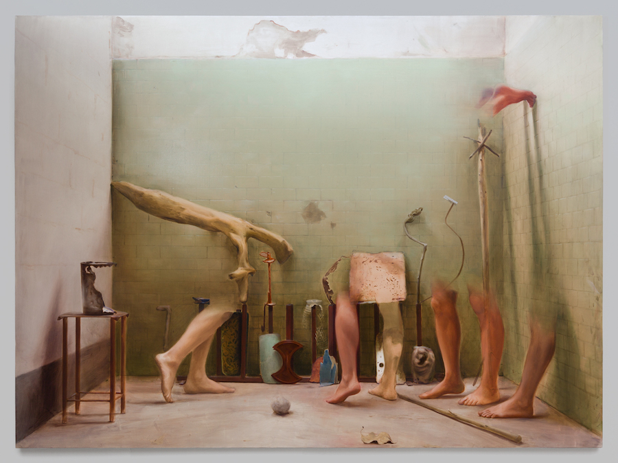 Manuele Cerutti, Motus naturalis, 2017-18, oil on linen, 240 x 325 cm  - Courtesy Guido Costa Projects, Torino - Foto copyright Cristina Leoncini