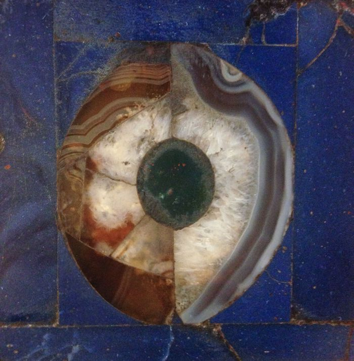 Caterina Morigi, Tarsia marmorea (dettaglio) / Marble inlay (detail) Galleria Borghese, Roma / Rome, 2018  photograph 5 x 5 cm courtesy of the artist