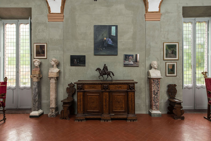Şerban Savu - Installation views. Museo Villa Camonica a Villa Borghese, Roma Foto di Giorgio Benni, courtesy the artist and Galeria Plan B, Cluj and Berlin.