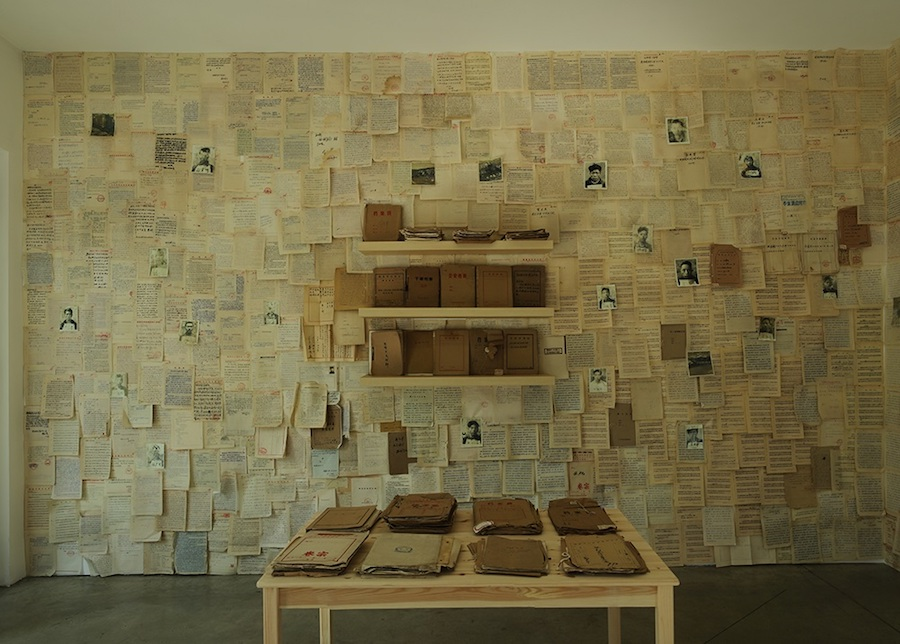 Mao Tongqiang, The Archive, 2018, Milan Courtesy Prometeogallery