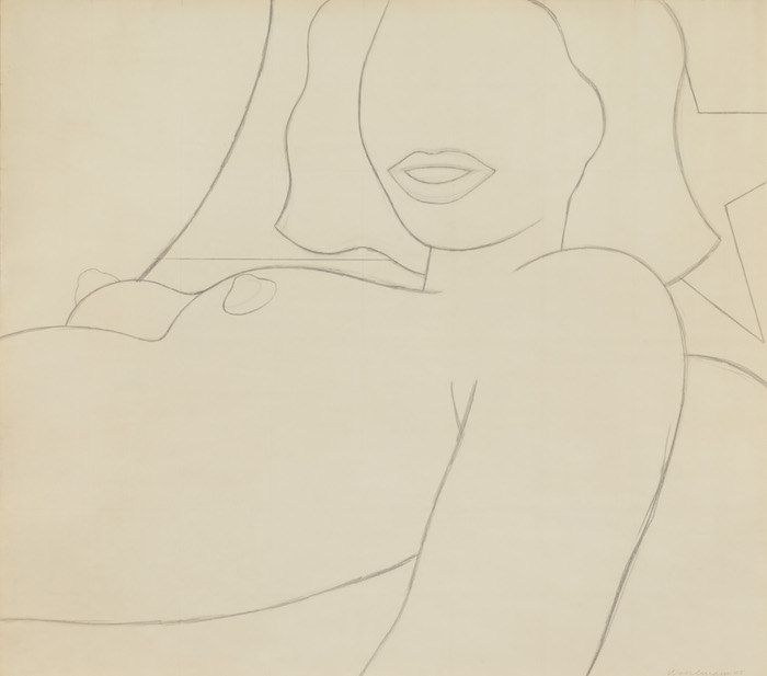 Tom Wesselmann Big Study for Great American Nude #75, 1965 pencil on paper 119,38 x 134,62 cm  © The Estate of Tom Wesselmann/ Licensed by VAGA, New York