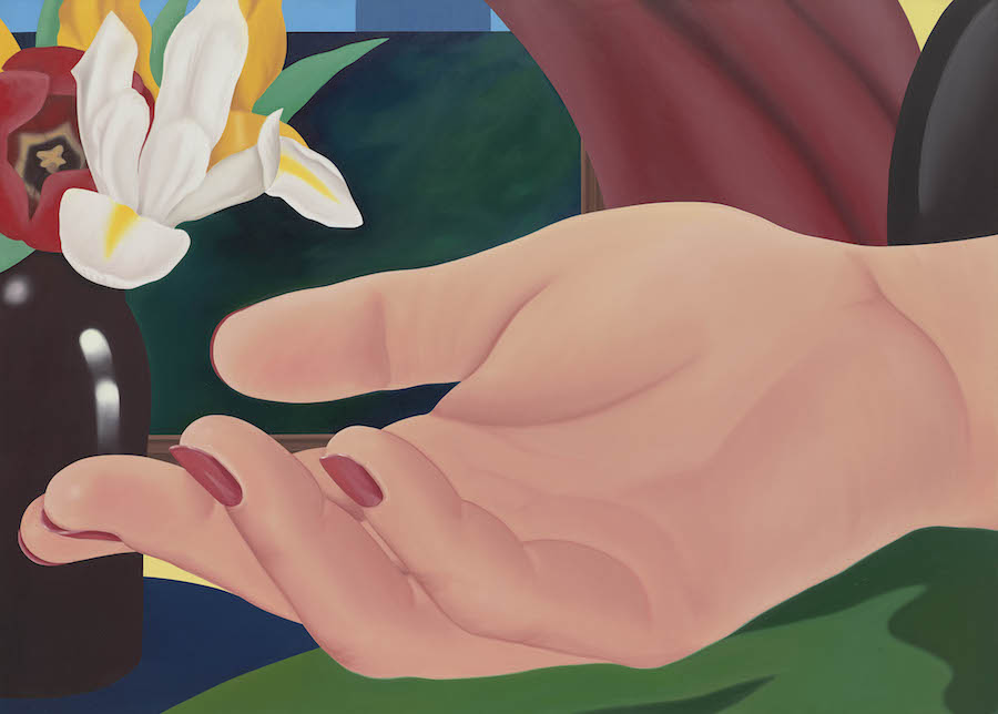 Tom Wesselmann Gina's Hand, 1972-82 oil on canvas 149,86 x 208,28 cm  © The Estate of Tom Wesselmann/ Licensed by VAGA, New York