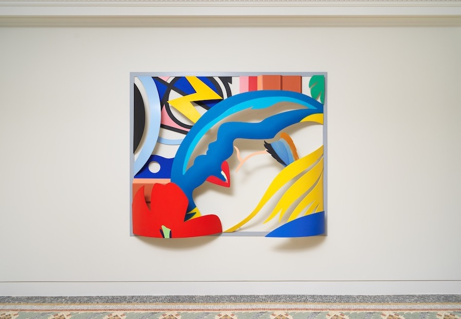 Tom Wesselmann,  Bedroom Face with Lichtenstein (Artist's Variation), 1988-92, Oil on cut-out aluminum, 172,7x208,3x33 cm -  Photo NMNM / Jeffrey Sturges, 2018 © The Estate of Tom Weeslmann / Licensed by VAGA, New York