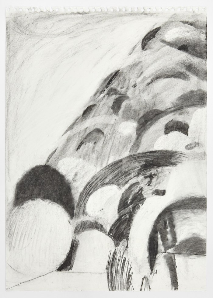 Phoebe Unwin Untitled, 2018 charcoal on paper 59,5 x 42 cm © the artist Courtesy Amanda Wilkinson Gallery, London