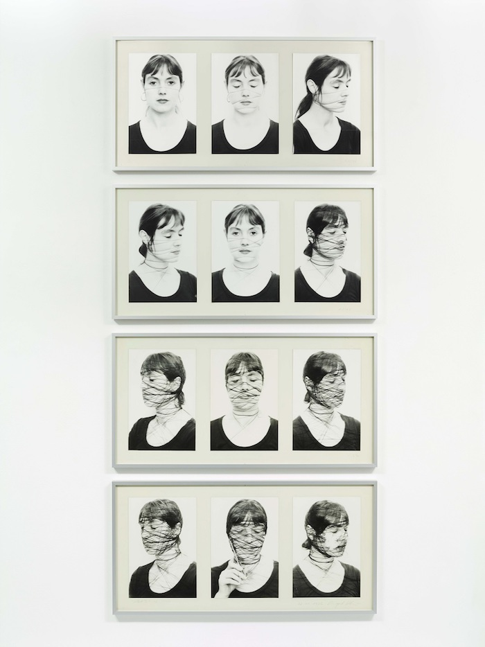 Annegret  SOLTAU Selbst  II,  1-12  (Self  II,  1- 12) ,  1975   12  Black  and  white  photographs  on  baryta  paper,  mounted  o n  cardboard   Each:  51.5  x  101.5  cm   Copyright  The  Artist   Courtesy  of  Richard  Saltoun  Gallery