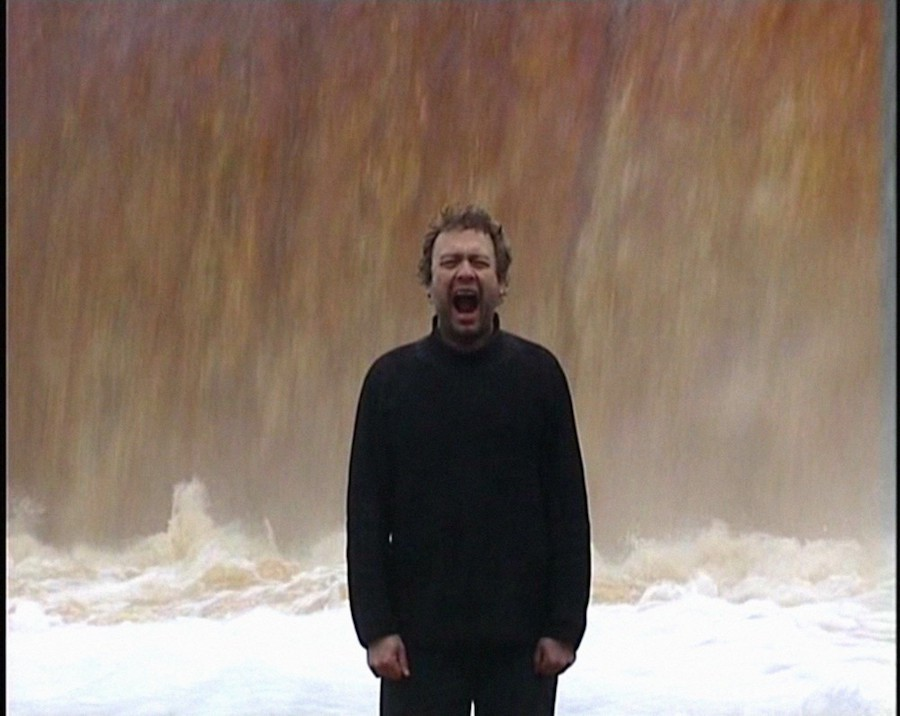 Jaan Toomik, Waterfall, video installazione, 2005