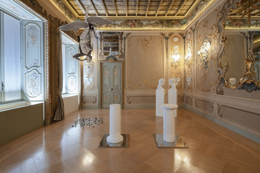Giulio Paolini, del Bello ideale, 2018 - installation view at Fondazione Carriero, Milan - Ph. Agostino Osio - Courtesy Fondazione Carriero, Milan