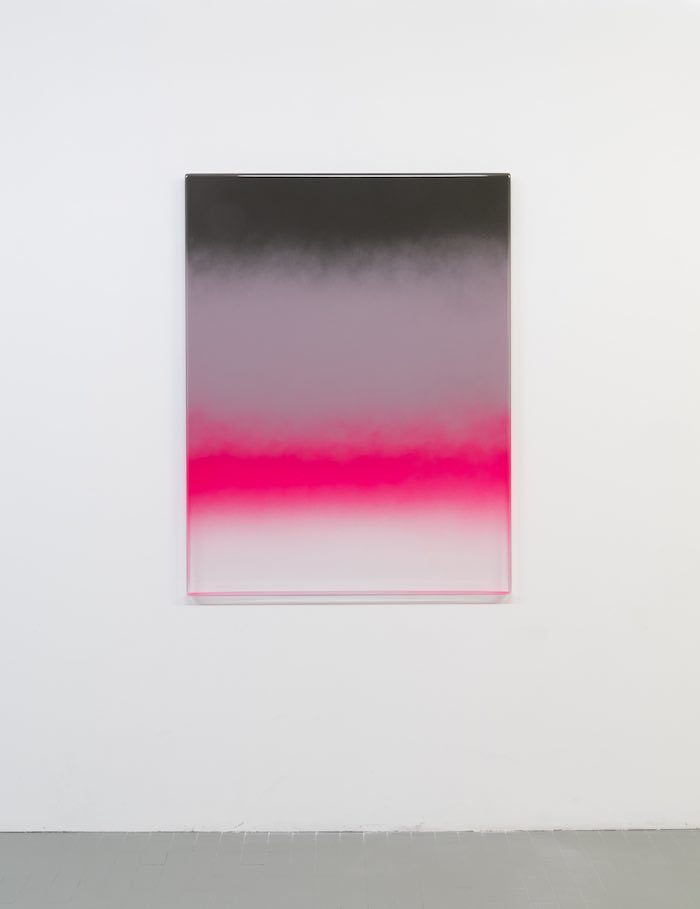 Mika Tajima Art d'Ameublement (Aurora Holmen), 2018 spray enamel, thermoformed acrylic 133,5×102,6×5 cm photo by Gilberti&Petrò