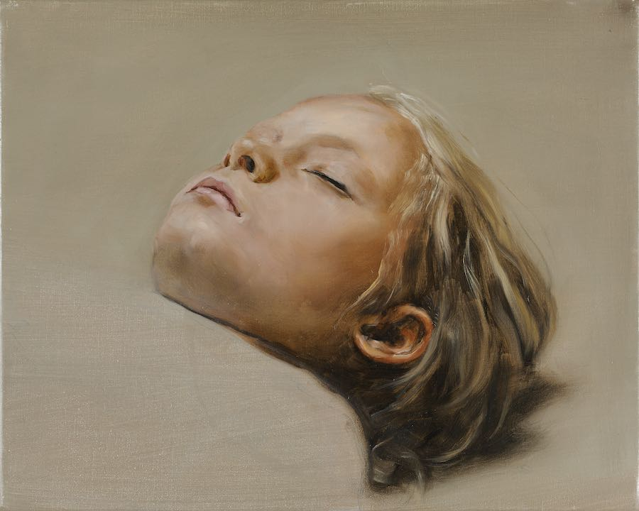 Michaël Borremans Sleeper, 2007 – 2008, olio su tela, 40 x 50 cm Courtesy Zeno X Gallery, Antwerp Photographer: Peter Cox