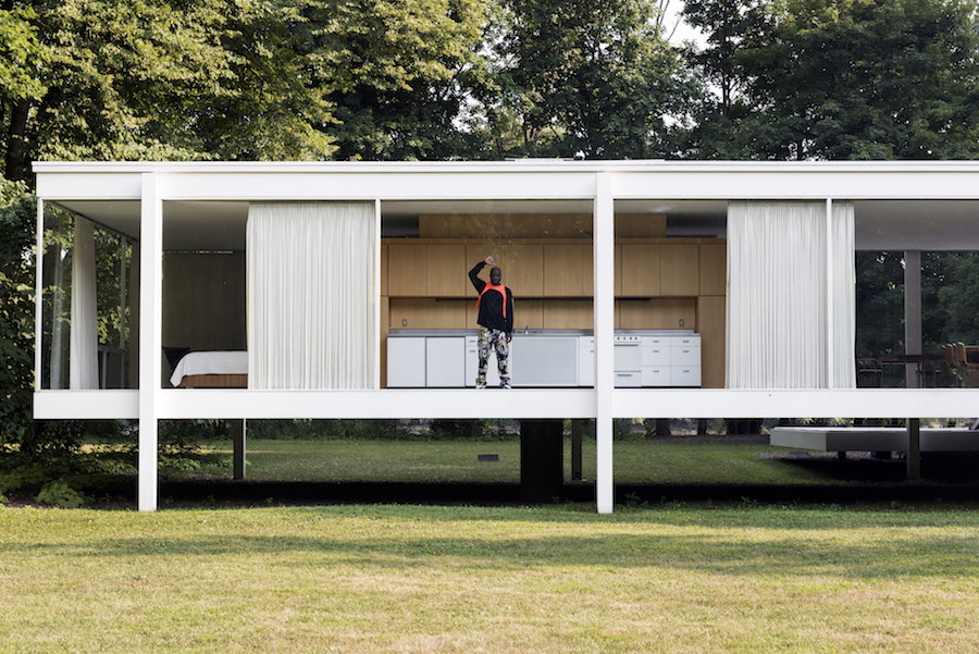 Virgil Abloh at Farnsworth House, IL - Photo by Richard Anderson