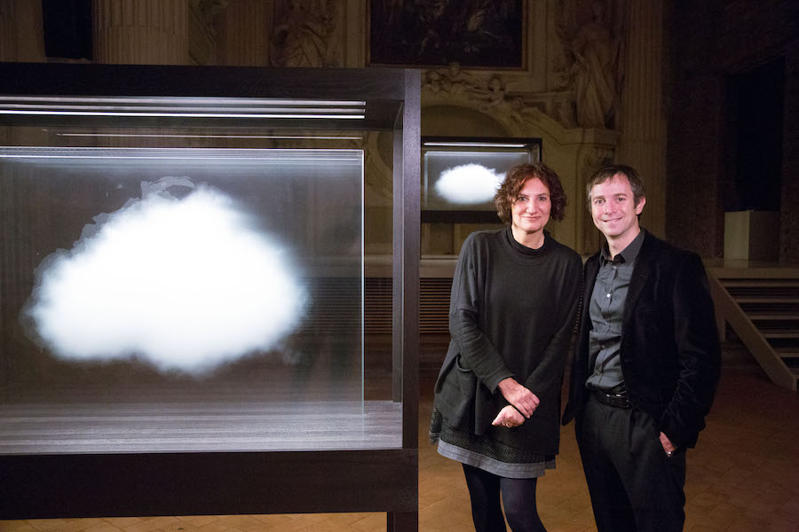 Maura Pozzati e Leandro Erlich nella mostra Collection de Nuages - Photo by: Alessandro Ruggeri