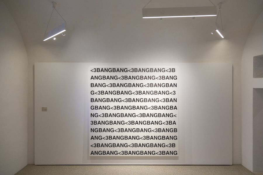 Karl Holmqvist - Untitled (Bang) - Installation view at Gallerie delle Prigioni, Fondazione Benetton, Treviso, 2019