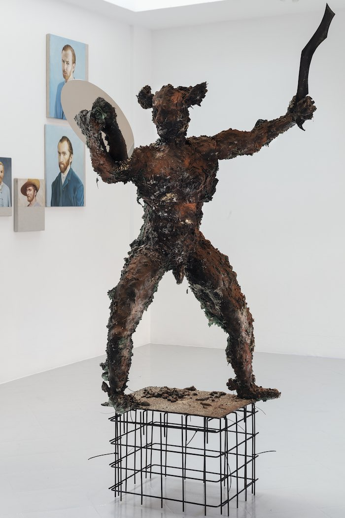 Matyáš Chochola, Perseus, 2018, mixed media on steel structure, h 150 cm - photo Filippo Armellin